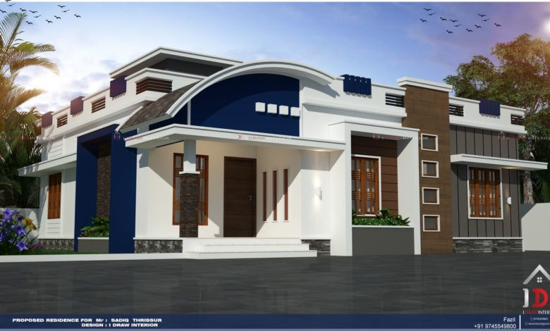1215 Sq Ft 3BHK Contemporary Style Single Floor House and Plan, Cost 17 Lacks