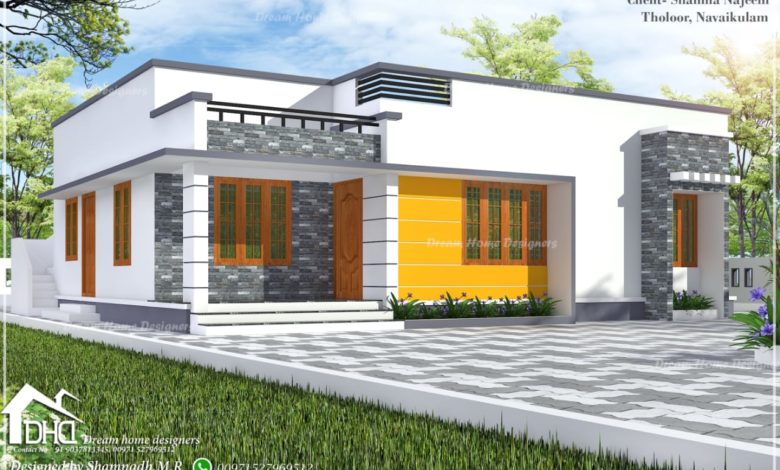 1241 Sq Ft 3BHK Single Floor Low Budget Beautiful House and Plan, 18.50 Lacks