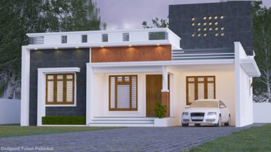 Photo of 1260 Sq Ft 3BHK Contemporary Style Single-Storey House and Plan