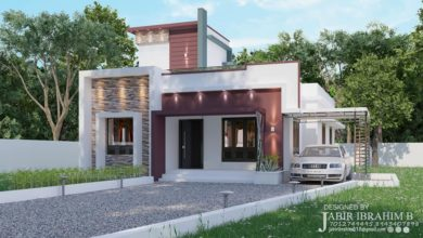 Photo of 1300 Sq Ft 3BHK Contemporary Style Single Storey House and Plan, 19 Lacks