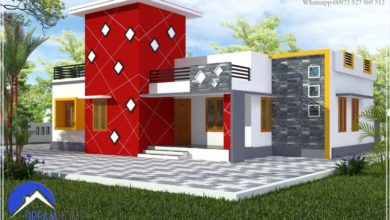 Photo of 1302 Sq Ft 3BHK Single Floor Low Budget House and Plan, Cost 16 Lacks