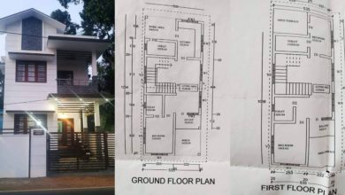 Photo of 1400 Sq Ft 3BHK Two Floor House and Plan at 3.5 Cent Plot, Budget 18 Lacks