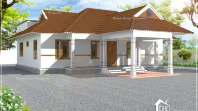 Photo of 1424 Sq Ft 3BHK Traditional Style Single Floor Beautiful House and Plan