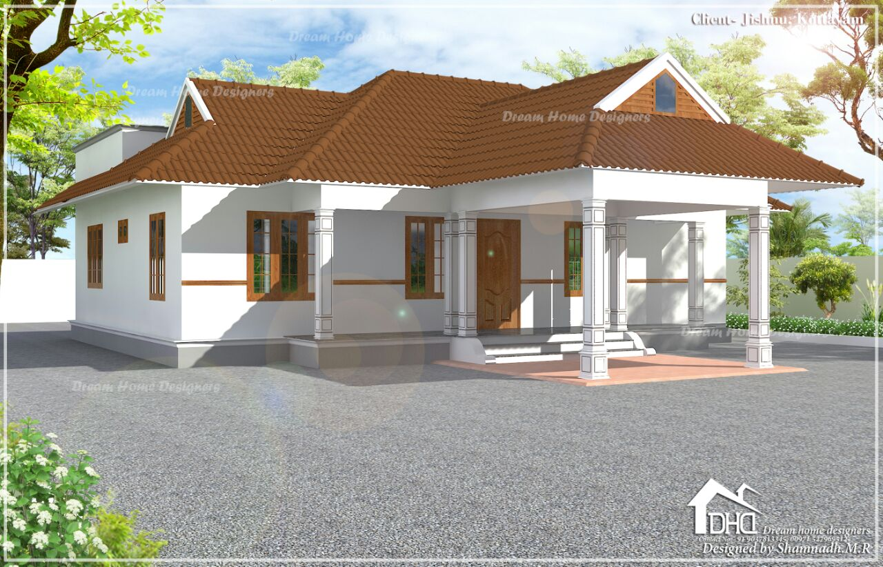 1424 Sq Ft 3BHK Traditional Style Single Floor Beautiful House and Plan