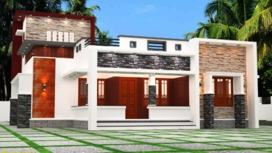 Photo of 1458 Sq Ft 3BHK Contemporary Style Single Storey House and Plan