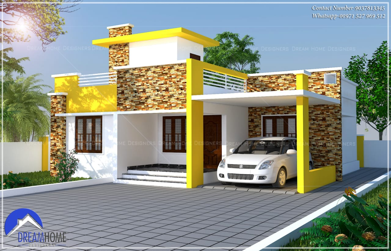 1460 Sq Ft 3BHK Single Floor Modern House and Plan, Cost 22 Lacks