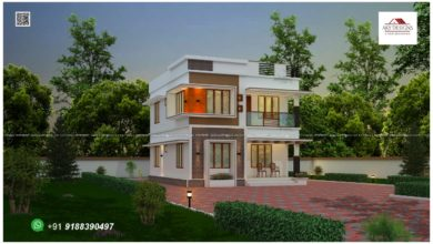 Photo of 1483 Sq Ft 3BHK Contemporary Style Two-Floor Modern House and Plan