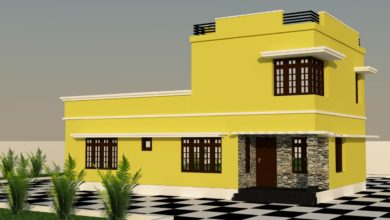 Photo of 1508 Sq Ft 3BHK Modern Double-Storey House and Plan