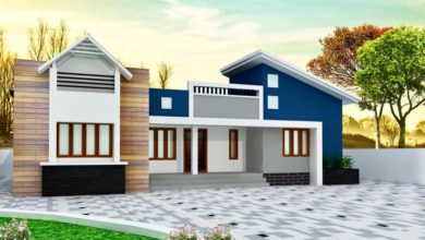 Photo of 1512 Sq Ft 4BHK Mixed Roof Contemporary Single Storey House and Plan
