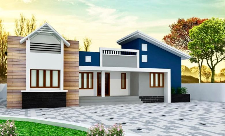 1512 Sq Ft 4BHK Mixed Roof Contemporary Single Storey House and Plan