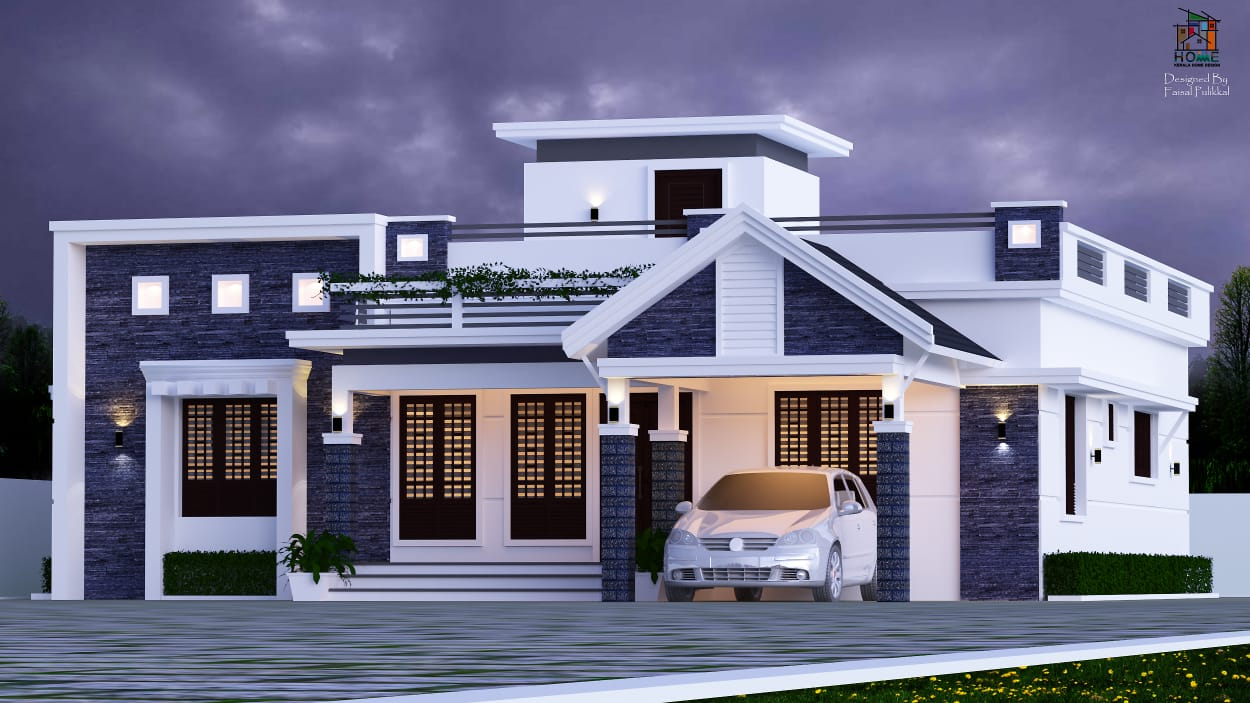 1600 Sq Ft 3bhk Mixed Roof Modern Single Storey House And Plan Amazing Architecture Magazine