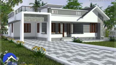 Photo of 1686 Sq Ft 3BHK Contemporary Mixed Roof Modern House and Plan, 18 Lacks