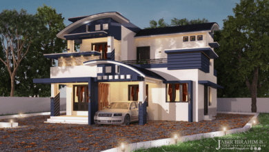Photo of 1700 Sq Ft 3BHK Contemporary Style Beautiful Two Floor House and Plan