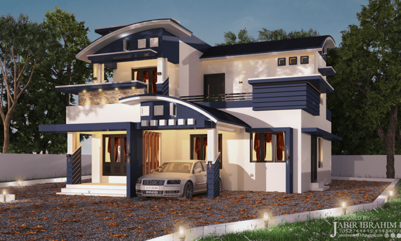 1700 Sq Ft 3bhk Contemporary Style Beautiful Two Floor House And Plan Home Pictures