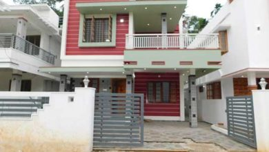 Photo of 1800 Sq Ft 3BHK Contemporary Style Two Floor House at 4 Cent Land