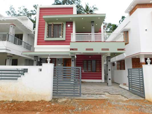 1800 Sq Ft 3BHK Contemporary Style Two Floor House at 4 Cent Land