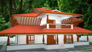 Photo of 1815 Sq Ft 2 Bedroom Traditional Kerala Style House and Plan