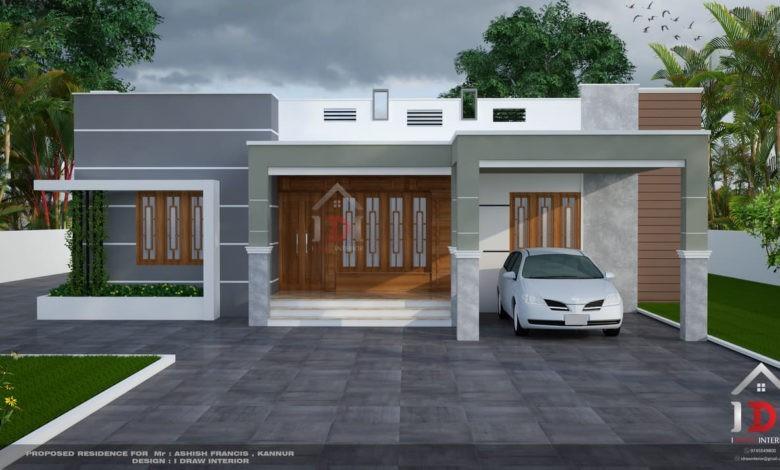1850 Sq Ft 4BHK Single Floor Modern House and Plan, 24 Lacks
