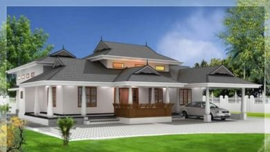 Photo of 1944 Sq Ft 3BHK Traditional Style Single Floor Beautiful House and Plan
