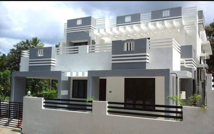 2000 Sq Ft 4BHK Contemporary Style Two-Storey House and Plan