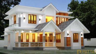 Photo of 2094 Sq Ft 3BHK Contemporary Style Modern Two-Storey House and Plan