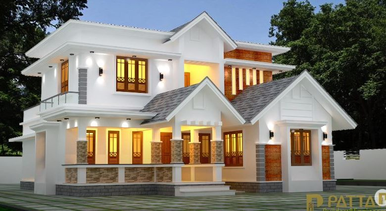 2094 Sq Ft 3BHK Contemporary Style Modern Two-Storey House and Plan