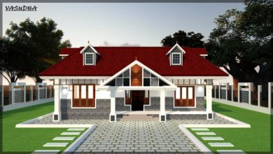 Photo of 2300 Sq Ft 4BHK Nalukettu Style Single Storey Traditional House and Plan