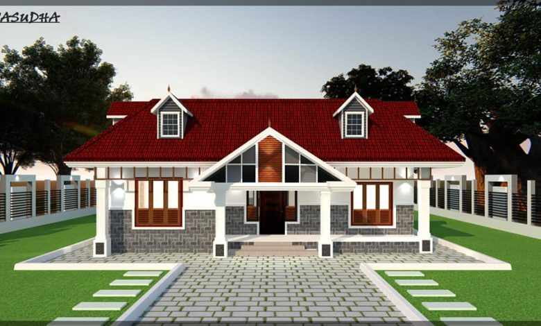 2300 Sq Ft 4BHK Nalukettu Style Single Storey Traditional House and Plan