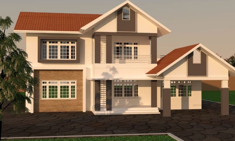 2438 Sq Ft 3BHK Traditional Style Two Floor Beautiful House and Plan