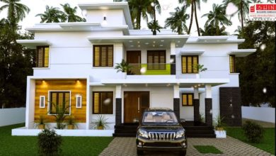 Photo of 2720 Sq Ft 4BHK Contemporary Style Two Storey Modern House and Plan