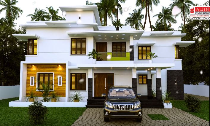 2720 Sq Ft 4BHK Contemporary Style Two Storey Modern House and Plan