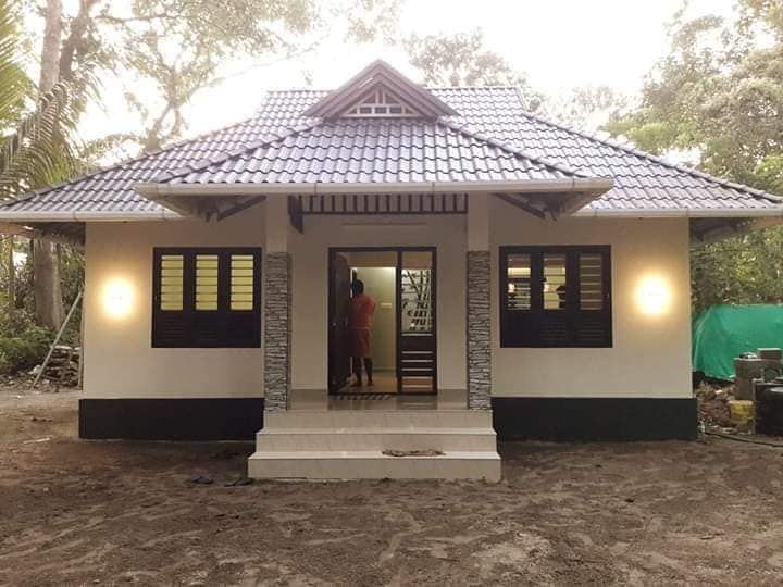 600 Sq Ft 2BHK Traditional Style House and Plan at 3 Cent Plot, Cost 10 Lacks