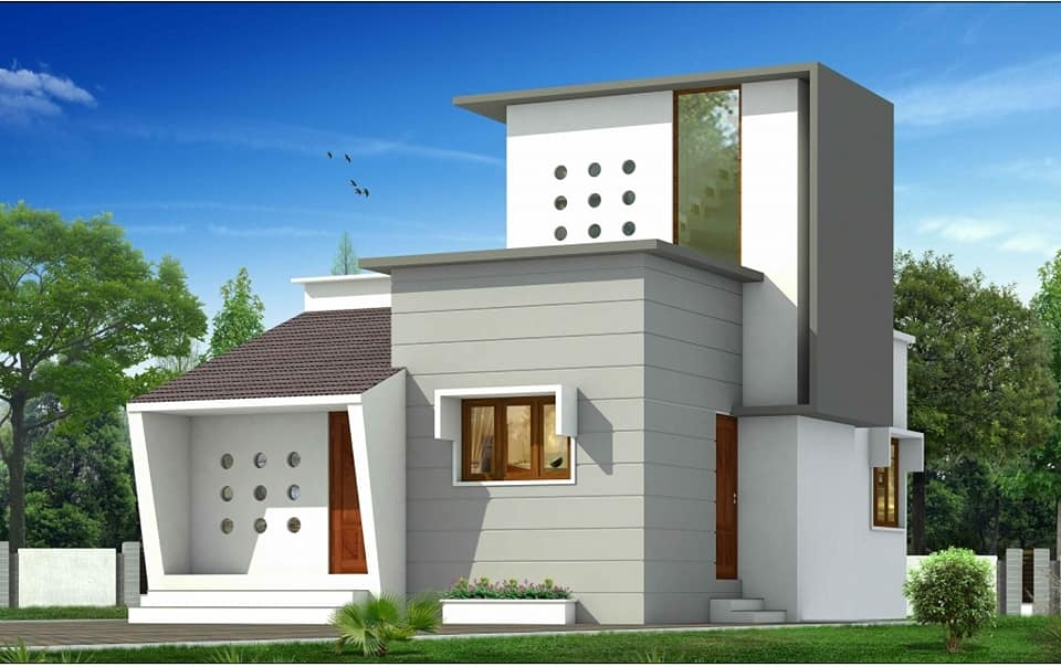 649 Sq Ft 2BHK Single Floor Low Budget Beautiful House and Plan