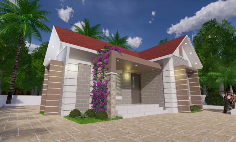 680 Sq Ft 2BHK Traditional Style Single Storey Beautiful House and Plan