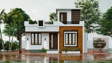 Photo of 815 Sq Ft 3BHK Single-Storey Beautiful House and Plan