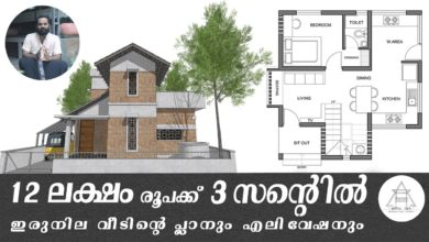 Photo of 833 Sq Ft 2BHK Two Floor House and Plan at 3 Cent, Budget 12 Lacks