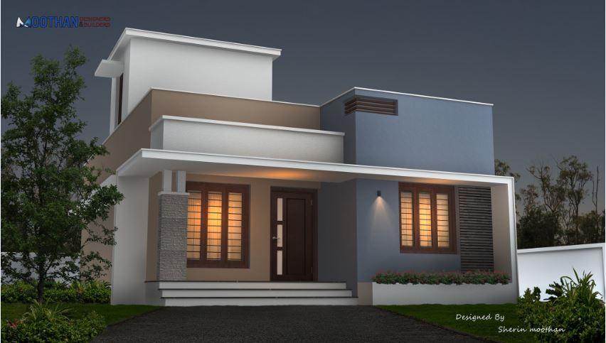 850 Sq Ft 2BHK Contemporary Style Modern Beautiful House Design, 12-15 Lacks