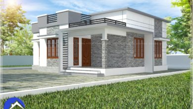 Photo of 870 Sq Ft 3BHK Single Floor Low budget House and Plan, 13 Lacks