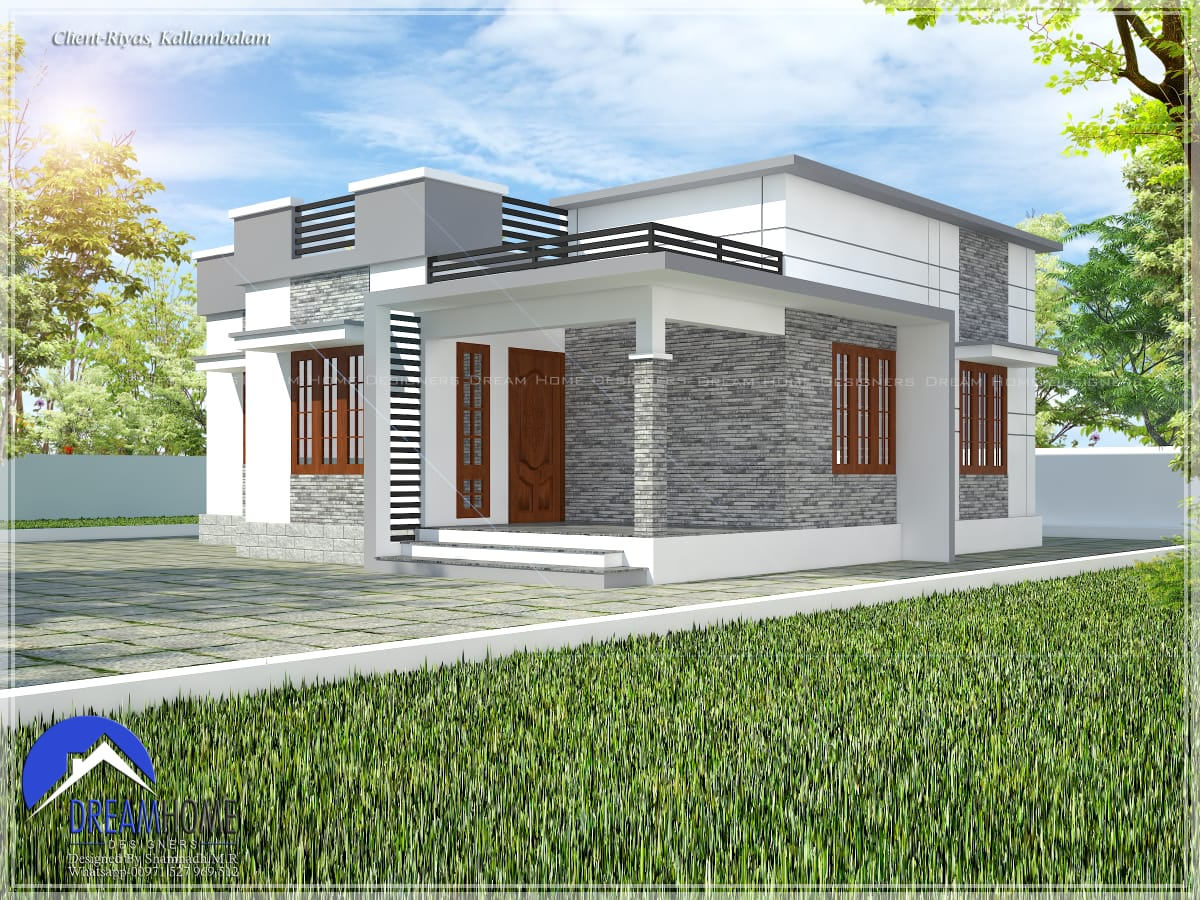 870 Sq Ft 3BHK Single Floor Low budget House and Plan, 13 Lacks
