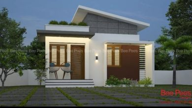 Photo of 984 Sq Ft 3BHK Contemporary Style Single-Storey House and Plan