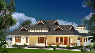 Photo of Kerala Traditional Style 4 Bedroom Single-Storey Beautiful House and Plan