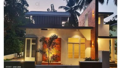 Photo of 1000 Sq Ft 2BHK Contemporary Style Single-Storey House and Free Plan