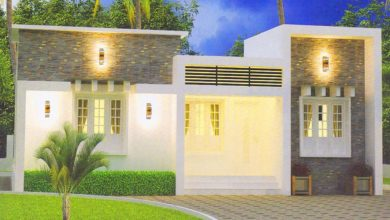 Photo of 1000 Sq Ft 3BHK Contemporary Single-Storey House and Plan