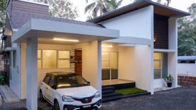 Photo of 1000 Sq Ft 3BHK Contemporary Style Single-Storey House and Plan