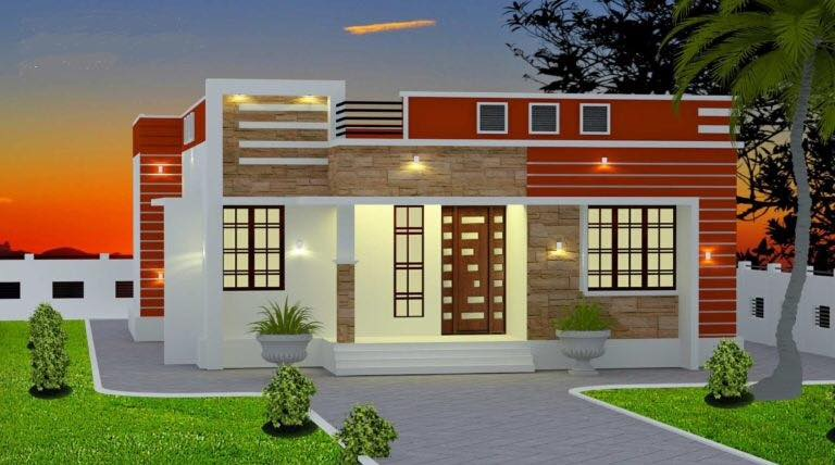 1005 Sq Ft 3BHK Modern and Beautiful House and Free Plan, 16 Lacks
