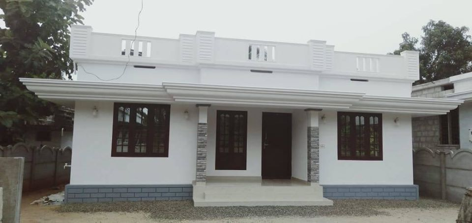 1026 Sq Ft 3BHK Simple and Beautiful House and Free Plan, 16 Lacks