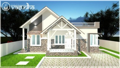 Photo of 1068 Sq Ft 3BHK Colonial Style Single-Storey House and Free Plan, 15 Lacks