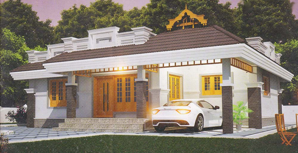 1089 Sq Ft 2BHK Traditional Style Single-Storey House and Free Plan