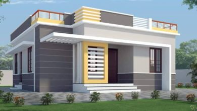 Photo of 1100 Sq Ft 3BHK Contemporary Style Single-Storey House and Plan, 16.50 Lacks