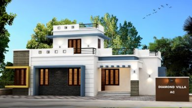 Photo of 1125 Sq Ft 3BHK Contemporary Style Single Floor Modern House and Free Plan